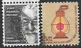US 1973 & 1979   $5  Used - Etats-Unis