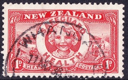 NEW ZEALAND 1936 1d + 1d Scarlet Health Camp SG598 Used - 1907-1947 Dominion