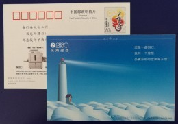 Lighthouse,China 2009 RISO Integrated Stenograph Printer Machine Advertising Pre-stamped Card - Phares