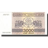 Billet, Géorgie, 3000 (Laris), 1993, 1993, KM:45, SPL - Géorgie