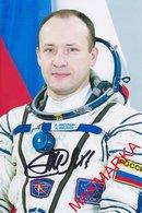 MAKMARKA SPACE RUSSIA 2018 A.MISURKIN (SOYUZ ТМА-08М/ISS-35/36, SOYUZ МС-06/ISS-53/54) AUTOGRAPH 1 FOTO (10Х15) - Autógrafos