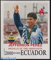 Ecuador 1996 Olympic Games Atlanta S/s, (Mint NH), Sport - Olympic Games - Equateur