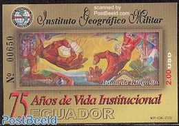 Ecuador 2003 Geographic Military Institute S/s, (Mint NH), History - Militarism - Art - Paintings - Equateur