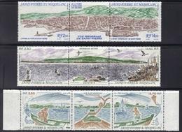 St Pierre Et Miquelon : 3 Triptyques De 1989-1990-1991 Neufs**. - Neufs