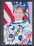 MAKMARKA SPACE RUSSIA 2017 P.WHITSON STS-111/113 SOYUZ ТМA-11, MS-03/04 AUTOGRAPH 1 FOTO (10Х15) - Autógrafos