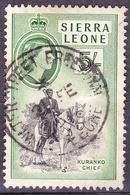 SIERRA LEONE 1956 5/-  Black & Deep Green SG220 FINE USED - Sierra Leone (...-1960)