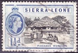 SIERRA LEONE 1956 1.5d Black & Ultramarine SG212 FINE USED - Sierra Leone (...-1960)