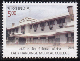 India MNH 2016 Lady Hardinge Medical College Education Health Medicine AIDS Surveillance Center, Famous For Microbiology - Unused Stamps