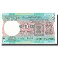 Billet, Inde, 5 Rupees, Undated (1975), KM:80f, SUP - Inde