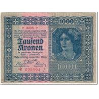Billet, Autriche, 1000 Kronen, 1922, 1922-01-02, KM:78, NEUF - Autriche