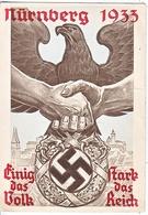 Propaganda Card  NURNBERG  1933  USED  TO  U.S.A. - War 1939-45