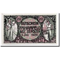 Billet, Autriche, Fahrafeld, 20 Heller, Personnage, 1920, 1920-07-01, SPL - Autriche