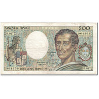 France, 200 Francs, 200 F 1981-1994 ''Montesquieu'', 1985, TB+, Fayette:70.5 - 1962-1997 ''Francs''