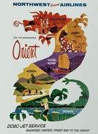 @@@ MAGNET - Northwest Orient Airlines - Publicitaires