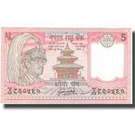 Billet, Népal, 5 Rupees, Undated (1987- ), KM:30a, SPL+ - Nepal