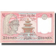 Billet, Népal, 5 Rupees, Undated (1987- ), KM:30a, SPL+ - Népal