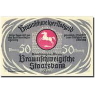Billet, Allemagne, Brauns, 50 Pfennig, Eglise, 1921 SPL Mehl:155.2g - Deutschland