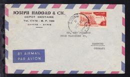 Universität 40 P. Auf Firmenbrief (Joseph Haddad & Cie., Damas) Ab Damaskus - Syrien