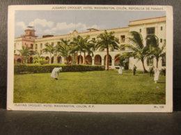 1915-20s Damas Jugando Croquet - Ladies Playing Croquet, Hotel Washington COLON, REPUBLIC OF PANAMA PC By I L Maduro Jr - Panama