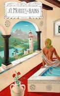 @@@ MAGNET - St. Moritz Les Bains - Publicitaires