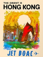 @@@ MAGNET - The Orient Is Hong Kong Jet Boac - Publicitaires