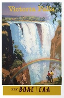 @@@ MAGNET - Victoria Falls Fly Boac-CAA - Publicitaires