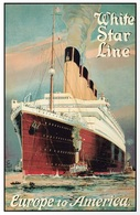 @@@ MAGNET - White Star Line Europe To America - Publicitaires