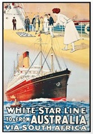 @@@ MAGNET - White Star Line To From Australia Via South Africa - Publicitaires