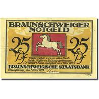 Billet, Allemagne, Brauns, 25 Pfennig, Parc, 1921, 1921-05-01, TB+, Mehl:155.3d - Deutschland