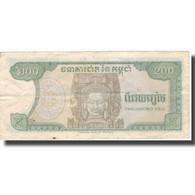 Billet, Cambodge, 200 Riels, 1992, 1992, KM:37a, TB+ - Kambodscha