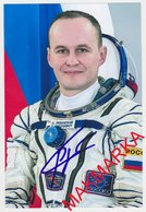 MAKMARKA SPACE RUSSIA 2017 S.RYAZANSKY SOYUZ TMA-10  SOYUZ MS-05/ISS-52/53 AUTOGRAPH 1 FOTO (10Х15) - Autógrafos