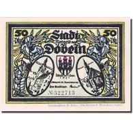 Billet, Allemagne, Dobeln, 50 Pfennig, Chevalier 5, 1921 SPL  Mehl:277.1a - Deutschland