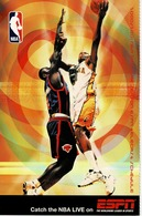 24F : Basketball NBA Live On ESPN Advertisement Postcard Type 2 - Basketball