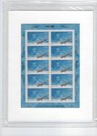 Feuillet De 10 Timbres Sous Blister Hommage à L'aviatrice Jacqueline Auriol ** N°F 66b Année 2003 - Luftpost