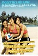 24F : Women Beach Netball Advertisement Postcard - Postcards
