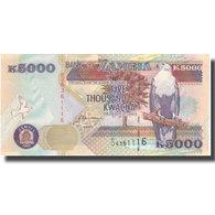 Billet, Zambie, 5000 Kwacha, 2001, 2001, KM:41b, NEUF - Sambia