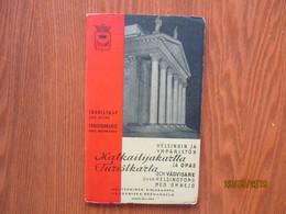 1939 FINLAND HELSINKI GUIDE AND MAP  ,0 - Dépliants Touristiques