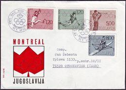 Yugoslavia - 1976 - Olympic Games 1976 - FDC - Ete 1976: Montréal