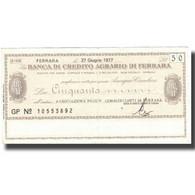 Billet, Italie, 50 Lire, Texte, 1977, 1977-10-27, SUP - Italie