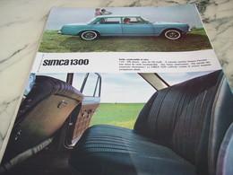 ANCIENNE  PUBLICITE VOITURE 1300 DE SIMCA 1964 - Voitures