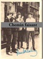 Chromo Chewing Gum ABC - BEATLES : Photo Autographe PAUL MCCARTNEY - Scans Recto-verso - Autres