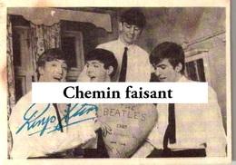 Chromo Chewing Gum ABC - BEATLES : Photo Autographe RINGO STARR - Scans Recto-verso - Autres