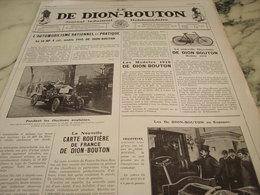 ANCIENNE PUBLICITE JOURNAL INDUSTRIEL AUTOMOBILE DE DION BOUTON 1910 - Voitures