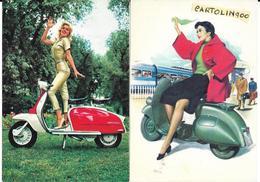 Pin Ups Su Vespa Piaggio (nr°2 (due Cartoline/  G.C./N.V.) - Altri