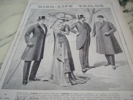 ANCIENNE PUBLICITE MAGASIN HIGH LIFE TAILOR    1910 - Vintage Clothes & Linen