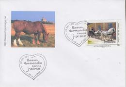 Enveloppe   1er  Jour   FRANCE   Le  HARAS  NATIONAL  DU  PIN     CAEN   2011 - Personalizzati (MonTimbraMoi)