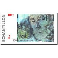 France, 200 Francs, Echantillon, SPL - Fautés
