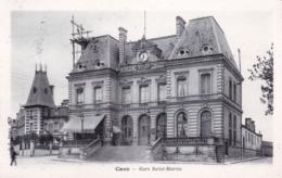 14 - Calvados - CAEN - Gare Saint Martin ( Echafaudage Sur Le Toit ) - Caen
