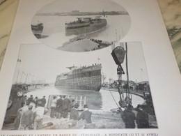 ANCIENNE PHOTO LANCEMENT ET L ENTREE DU VERGNIAUD A BORDEAUX 1910 - Aviation Commerciale