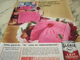 ANCIENNE PUBLICITE LE BON GESTE D AJOUTER GLORIA 1964 - Afiches